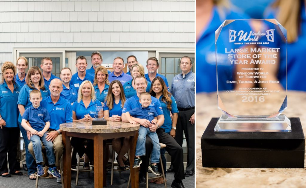 Window World of Tidewater 2016 Store of the Year