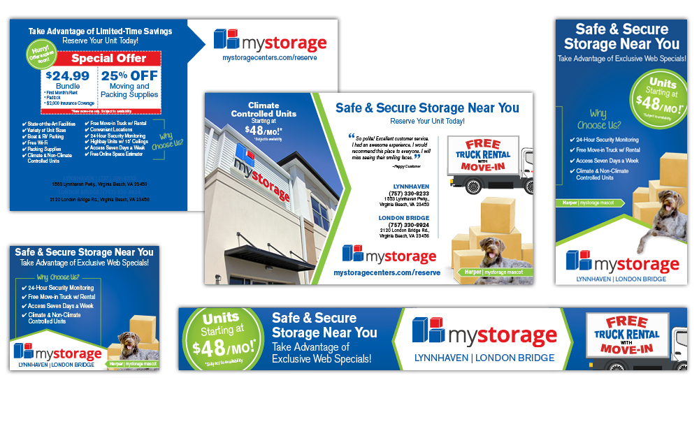 Ad Creative - Reed & Associates Marketing for MyStorage Centers