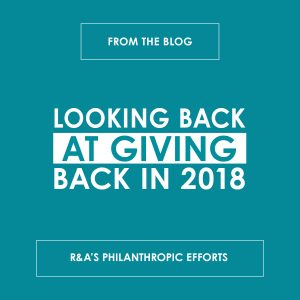 Looking Back at Giving Back: 2018 - reedandassociatesmarketing.com